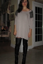 H&M dress - Forever 21 tights - Aldo boots