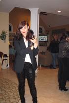 JCrew blazer - JCrew blouse - Express leggings - Forever 21 shoes