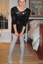 Topshop dress - Gap tights - Yves St Laurent shoes