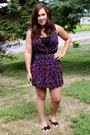 Purple-material-girl-dress-black-bow-aldo-sandals-black-belt