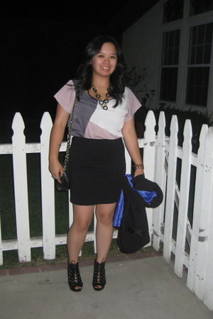Forever 21 top - H&M skirt - Madden Girl shoes - Forever 21 necklace - H&M blaze