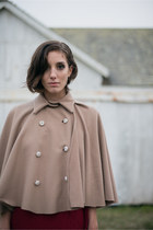 Wool Camel Cape