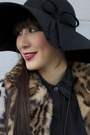 Leopard-print-express-jacket-alyssa-nicole-dress-floppy-hat-bcbg-hat