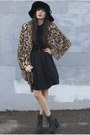 Alyssa-nicole-dress-floppy-hat-bcbg-hat-leopard-print-express-jacket