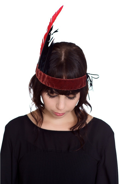 crimson feather crown Alyssa Nicole accessories