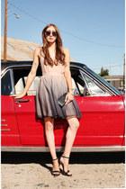 neutral ombre Alyssa Nicole dress - black Tom Ford sunglasses