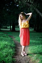 orange orange maxi Alyssa Nicole skirt - mustard tube top Alyssa Nicole top
