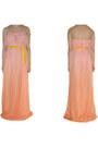Orange-chiffon-maxi-alyssa-nicole-dress-mustard-velvet-alyssa-nicole-belt