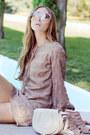 Brown-alyssa-nicole-dress-off-white-marcie-chloe-bag