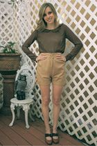 camel khaki Alyssa Nicole shorts - brown mary anne Alyssa Nicole blouse