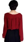 Brick Red Bishop Sleeve Alyssa Nicole Blouses