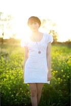 white Alyssa Nicole dress - bronze new necklace Alyssa Nicole accessories