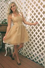 Gold-organza-pleated-alyssa-nicole-dress