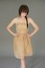 gold organza pleated Alyssa Nicole dress