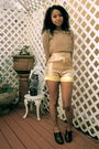 Gold-alyssa-nicole-shorts-beige-alyssa-nicole-blouse