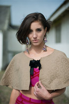 Tapestry Camel Cape