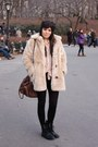 Lace-up-h-m-boots-faux-fur-minkpink-coat-bow-headband-topshop-hat