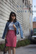 H&M skirt - Armani Exchange jacket - Vince Camuto bag - Juicy Couture sunglasses