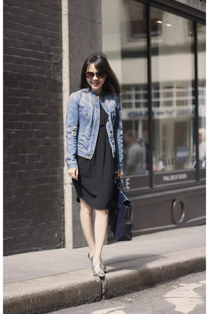 rachel roy dress - Armani Exchange jacket - 31 Phillip Lim bag - H&M heels