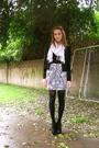 White-h-m-scarf-black-forever21-jacket-black-zara-dress-black-donna-karen-