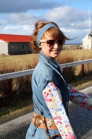 Cubus suit - vintage shirt - vintage belt - vintage boots - Urban Outfitters sun