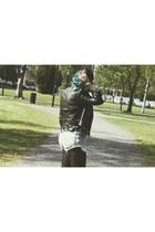 creepers TUK shoes - denim Levis shorts - crochet H&M top