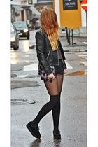 faux leather H&M jacket - suede ebay Creepers flats