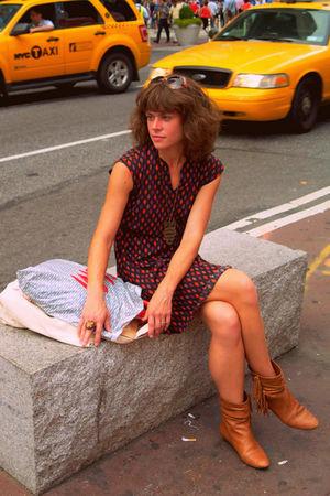 vintage dress - Steve Madden boots