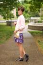 Black-call-it-spring-shoes-violet-gap-dress-light-pink-vintage-sweater