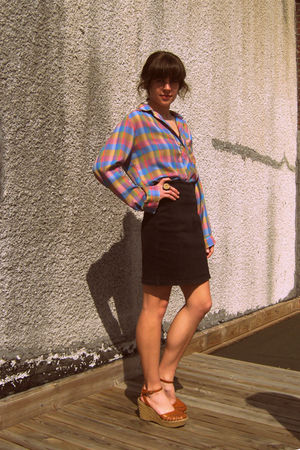vintage jordache skirt - vintage blouse