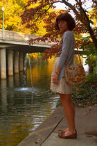 gray Target cardigan - brown Etsy t-shirt - beige Urban Outfitters skirt - vinta