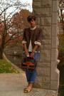 Gap-jeans-brown-tweed-vintage-blazer-vintage-dooney-and-bourke-bag