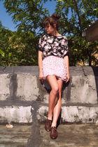 vintage blouse - Target skirt - vintage shoes