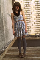 Urban Outfitters dress - Etsy scarf