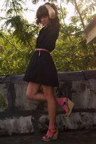 vintage dress - cynthia vincent for target wedges shoes