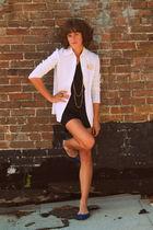 vintage blazer - Vintage romper shorts - Target shoes