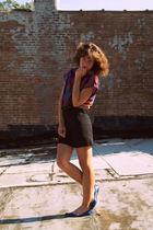 vintage blouse - vintage dress - Target shoes