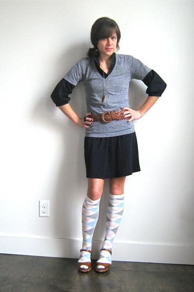 Gap dress - American Apparel t-shirt - vintage belt - vintage shoes