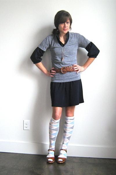 Gap dress - American Apparel t-shirt - vintage belt - vintage shoes