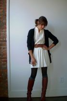 dress - Forever 21 tights - Target sweater - boots - belt