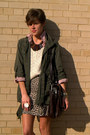 Ivory-vintage-sweater-army-green-jacket-dark-brown-frye-bag
