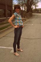 vintage blouse - BDG jeans - vintage shoes