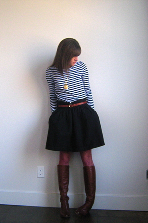 Rodarte for Target shirt - vintage boots - vintage belt - thrifted skirt - apost