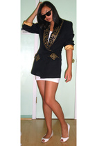 blazer - American Apparel dress - Nine West shoes