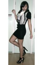 hm scarf - hm vest - aa dress - Zara shoes