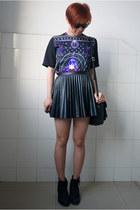 Topshop boots - Taobao shirt - Ray Ban sunglasses - H&M skirt