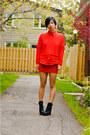 Black-spring-boots-red-h-m-sweater-red-ralph-lauren-shirt-red-smart-set-sk