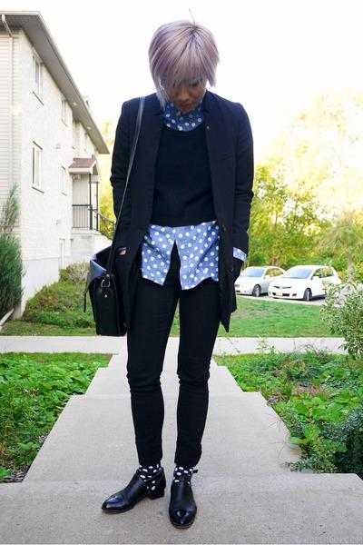 black Alexander Wang shoes - black Cheap Monday jeans - black H&M blazer