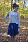 H-m-sweater-pink-thrifted-vintage-tights-blue-chiffon-forever-21-skirt