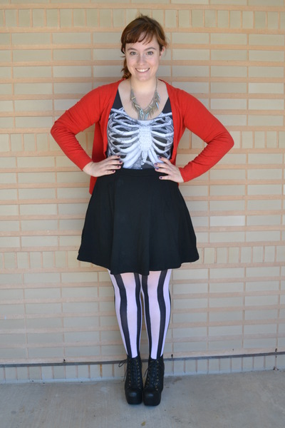 ivory H&M tights - black Jeffrey Campbell boots - dark gray Black Milk swimwear
